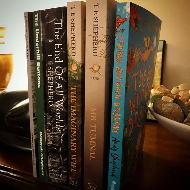 A shelf-full of Shepherds… #books???? #family @shepline @andyshepherdwriter #DebbieShepherd