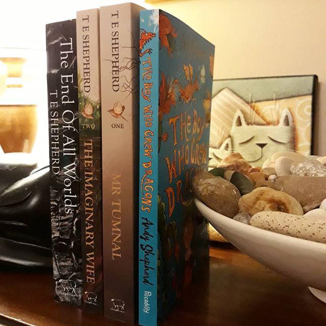 A shelf-full of Shepherds… #books???? #family @shepline @andyshepherdwriter