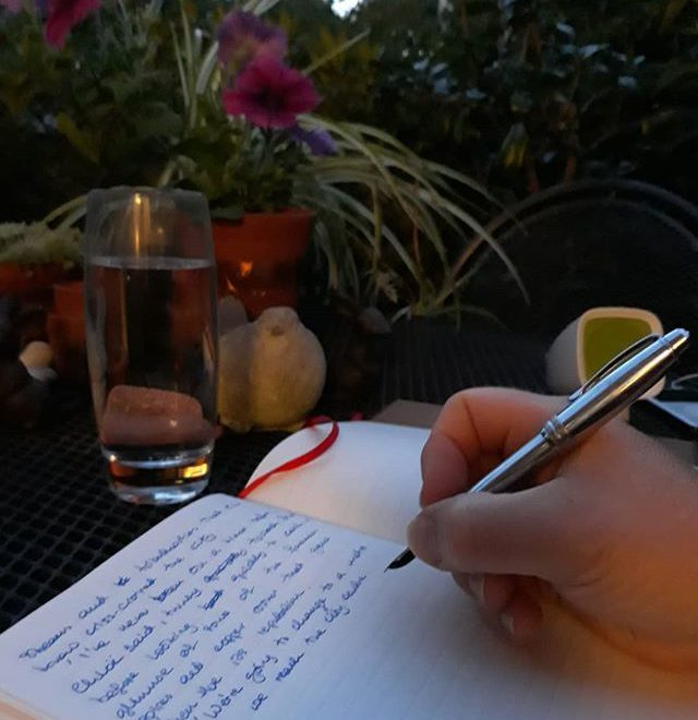 Al fresco writing is the best kind of writing! #summer???? #summernights???? #amwriting #spinoff #shortstory #ImaginaryFriends #MrTumnal #TheImaginaryWife #internationalwritingday