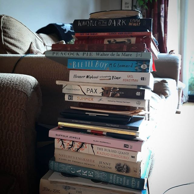 My #currentlyreading and #tooreading pile has reached new levels of instability…