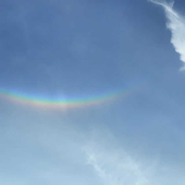 Never seen an upside down rainbow before... #upsidedownrainbow #circumzenithalarc