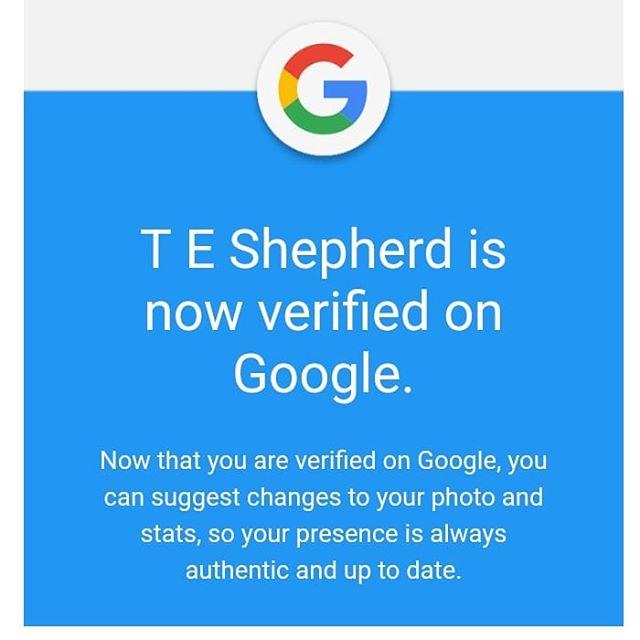 I be a verified persona. ???? #google #verified #teshepherd #author