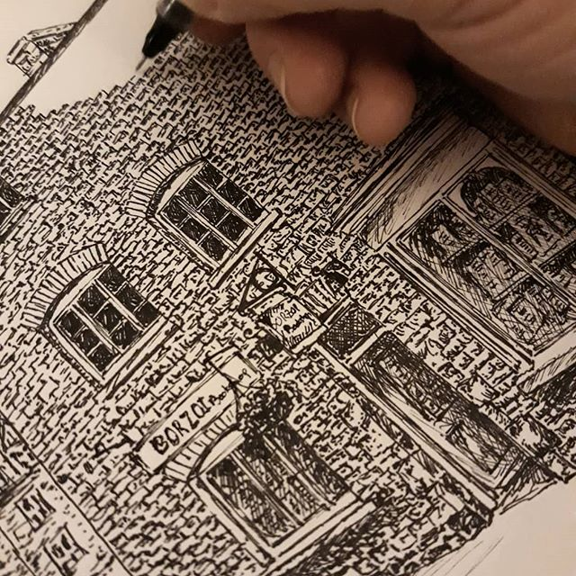Filling in the gaps… #bookshops #bookshopsofinstagram #bookloversguidetobookshops #illustration #amillustrating @borzoibookshop