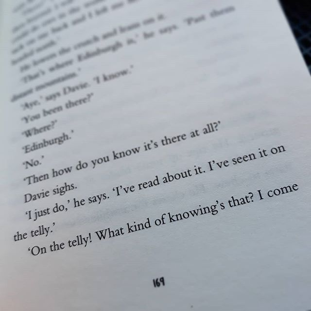 """I've seen it on the telly [...] what kind of knowing is that?"" #TheColouroftheSun ##DavidAlmond #amreading"