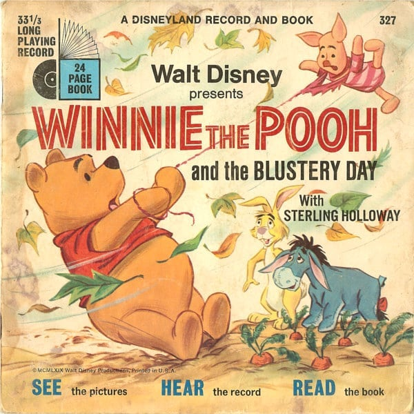 I woke up this morning thinking very much of this childhood favourite. I think I may have to play it when I get home tonight... #winniethepooh #blusteryday #wind