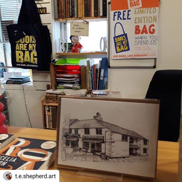 #Repost @t.e.shepherd.art • • • • • What better way to celebrate #bookshopday but to deliver #greetingscards in person to thed amazing @booksandink. In stock and on sale NOW! 😀 @booksaremybag #bookloversguidetobookshops