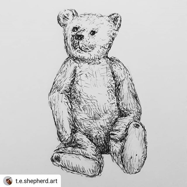 #Repost @t.e.shepherd.art • • • • • There's a new best in town! Meet Ardizzone Bear, childhood friend of Louis Tumnal… #Ardizzone #bearsofinstagram #MrTumnal #amillustrating #inktober