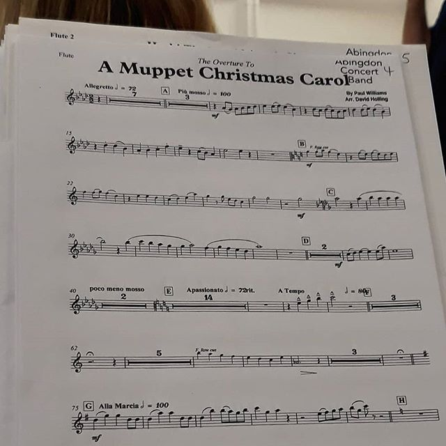 Well, it's that time of year when you know *it's* coming… @abingdonconcertband #windband #band #Christmas🎄