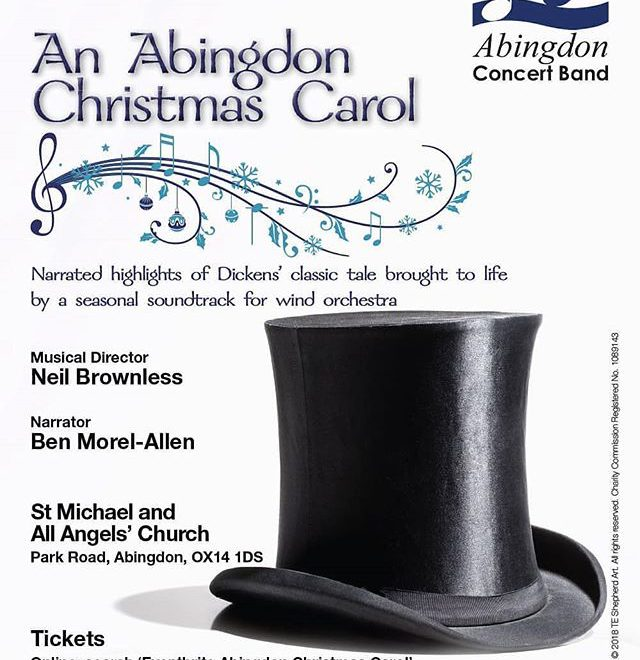 #Repost @abingdonconcertband • • • • • It's that exciting time of year again – our Christmas concert poster is out, as well as tickets for the event. We've got a wonderfully narrated show full of festive faves, including one or two you may not have heard. . . Tickets here: https://www.eventbrite.co.uk/e/an-abingdon-christmas-carol-tickets-51945086151 . . #Abingdon #Oxfordshire #music #concert #Christmas #homealone #muppets #familyfriendly #greatestshowman