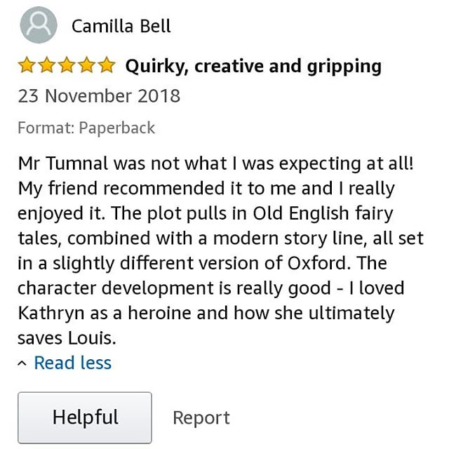 "Want a magicrealism story that ""pulls in Old English fairy tales [...] with a modern story line [...] set in a slightly different version of Oxford"" for your #weekendreading? . Reader Camilla ""loved Kathryn as a heroine and how she ultimately saves Louis"" and rated #MrTumnal 5 stars! 😊 . https://viewbook.at/MrTumnal"