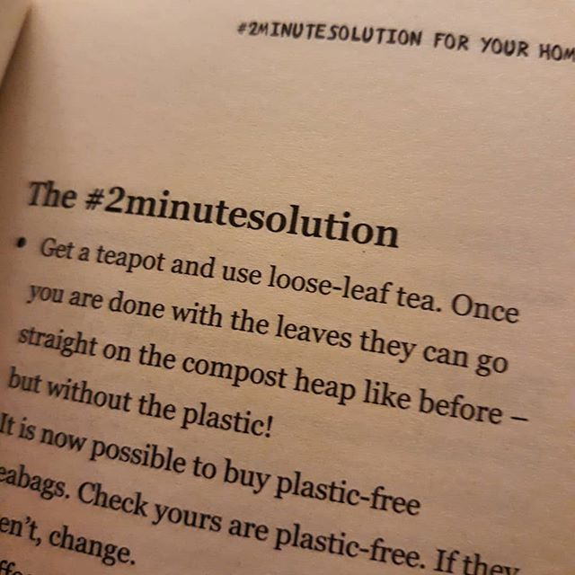Loose tea tastes better and you can have a pot for every occasion… // #NoMorePlastic #2minuteresolution #amreading