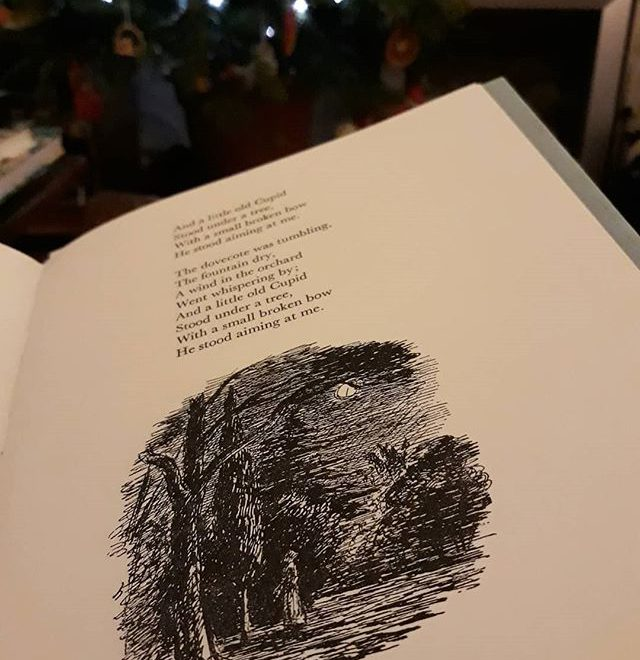 And a little old Cupid / Stood under a tree // How does #EdwardArdizzone do it in just black, carefree lines…? #mood #illustration #PeacockPie #WalteedelaMare #amreading