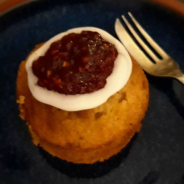 Celebrating J.L. Runeberg's Day (born 215 years ago), the National Poet of Finland by eating yummy Runeberg's Torte. Thanks @millakontkanen! #runebergstårta #runebergsday