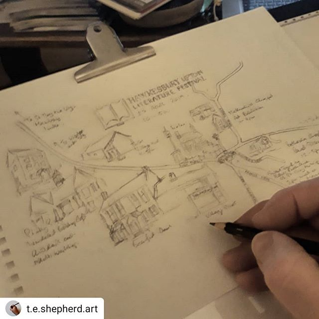 #Repost @t.e.shepherd.art • • • • • From the back room of a pub five years ago to five venues and a whole village celebrating story and the power of words across five venues, #HULitFest is the place to be… #illustration #amillustrating #maps #literaryfestival