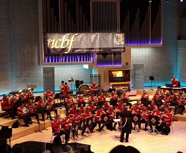 Listening to the Band of the Band of the Scot's Guard at @ncbf_festival #windband #musicinspires 🎶📯🎺🎷