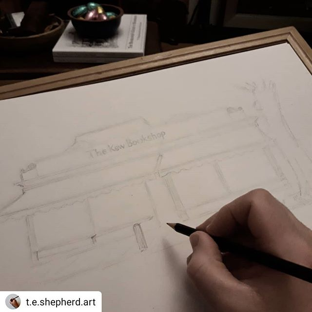#Repost @t.e.shepherd.art • • • • • Heading into London Town for the first time for the next of my #bookloversguidetobookshops illustrations with the @kewbookshop… ••• #bookshopsofinstagram #bookshops  #amillustrating @bookshopblogger