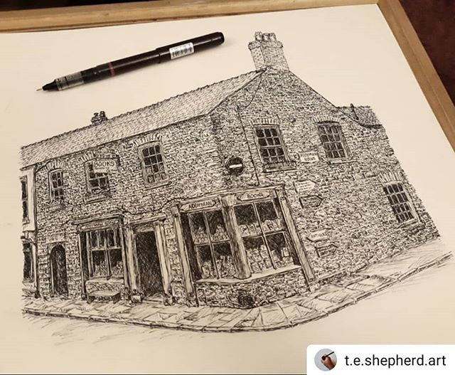 #Repost @t.e.shepherd.art • • • • • And we're done. Who's been to @addymanbooks in #hayonwye? It's a most wonderful place that shelves my twin loves of #RexWhistler and #EdwardArdizzone on adjacent shelves… #bookshops #bookshopsofinstagram #bookloversguidetobookshops #illustration #amillustrating @hayfestival @bookshopblogger