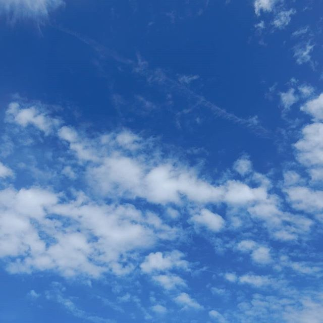 Summer sky... #nofilter #bluesky #blue
