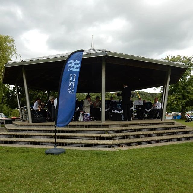 Fun times entertaining the hoards of Henley-on-Thames with an afternoon of @abingdonconcertband music (even if the wind cause my music to end up in the middle of the saxophone section at one point!)