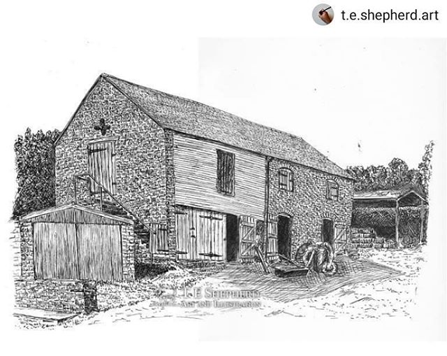 #Repost @t.e.shepherd.art • • • • • Last month we had a great holiday in rural Shropshire (is there any other kind?), camping at Middle Woodbatch Farm where they have an old working granary, ripe for the drawing… ••• Prints available: https://www.etsy.com/uk/listing/700449726/old-granary-middle-woodbatch-farm ••• #farms #farmlife🚜 #camping #granary #illustrations #amillustrating #Shropshire #BishopsCastle