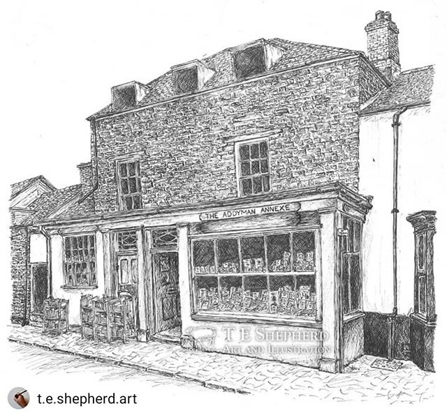 #Repost @t.e.shepherd.art • • • • • The Addyman Annexe was the first #HayBookshop that I went into and is the latest #illustration to join the #HayCollection of my #bookloversguidetobookshops. I've also drawn their main shop, and the murder and mayhem shop across the road. ••• Prints available: https://www.etsy.com/uk/listing/719395425/the-addyman-annexe-hay-on-wye #bookshops #bookshopsofinstagram #amillustrating @addymanbooks @bookshopblogger