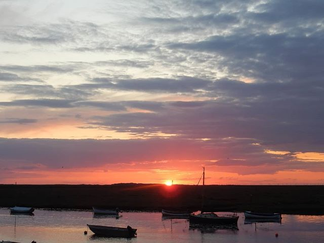 Sunset over the holiday... #burnhamoverystaithe #NorfolkRiviera