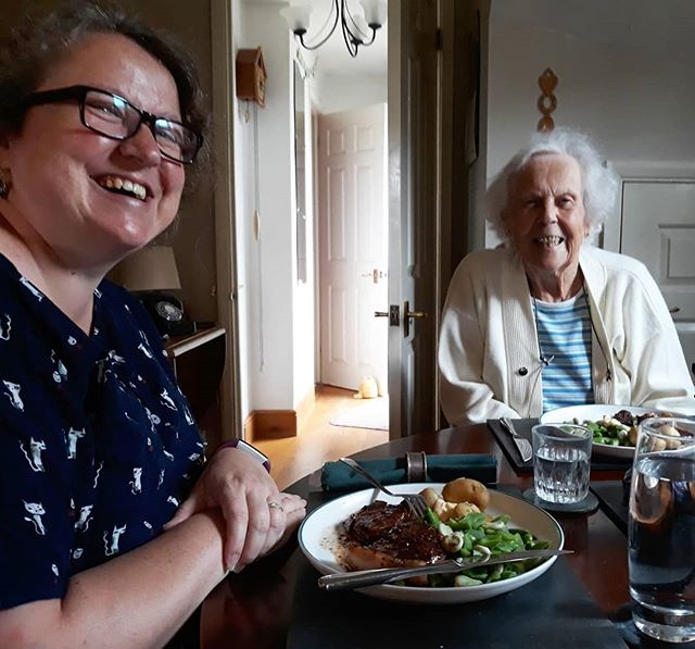 Steak lunch for Grannie Francis on a Sunday.