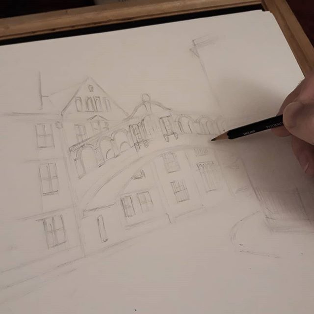 Take two... #BridgeofSighs #Oxford #landmarks #illustration #amillustrating