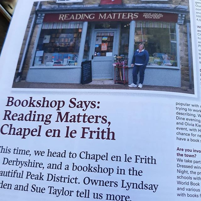 Being Derbyshire born, and given that Chapel-en-le-Frith is my hometown, this is definitely a bookshop I'm going to have to visit, buy from, illustrate, and include in @bookshopblogger's and my #bookloversguidetobookshops… #ReadingMatters #amillustrating