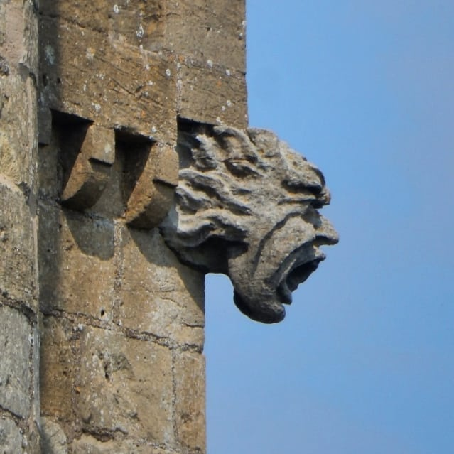 Gothic faces. The stuff of nightmares. #gothic #gargoyles #BroadwayTower #folly #CapabilityBrown