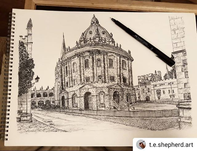 #Repost @t.e.shepherd.art • • • • • And its done. Oxford's #RadcliffeCamera is complete. Prints and original will be going on sale very soon. What do you think?  #Oxford #landmarks #illustration #amillustrating @bodleianlibs @weloveoxford