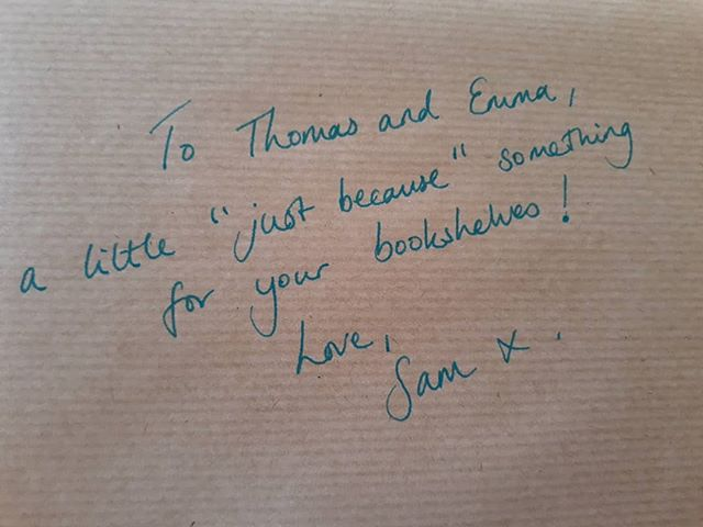 Visited @samthebook on her last day in Banbury. It's not every day that you are presented with a present from your favourite bookseller. Looking forward already to visiting @booksandink when it opens in Winchcombe! #indiebooksellers #shoplocal #loveyourlocal