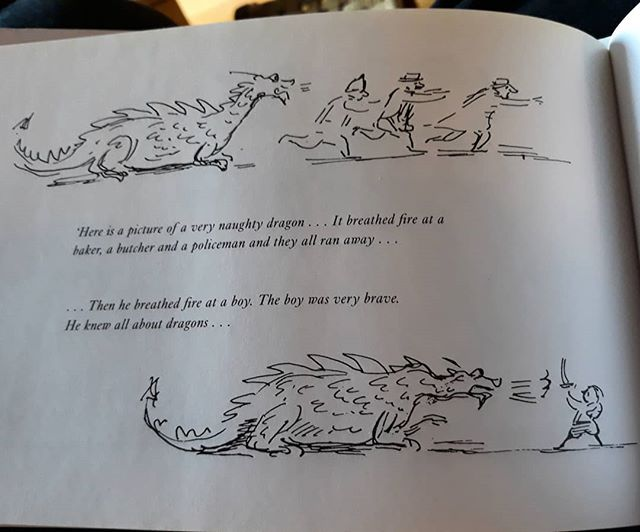 This #EdwardArdizzone #SketchesforFriends is perfect for @andyshepherdwriter... #dragons @allthingsardizzone
