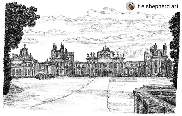 #Repost @t.e.shepherd.art • • • • • It was the illustration that defeated me twice, but I'm so glad I persevered with it. I'm so proud of how @blenheimpalace has turned out. • • •  Prints now available: https://www.etsy.com/uk/listing/727647230/blenheim-palace-woodstock #Oxfordshire #landmarks #BlenheimPalace #illustration #amillustrating