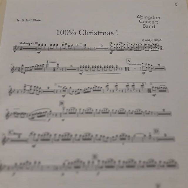 Too soon! #Christmas @abingdonconcertband