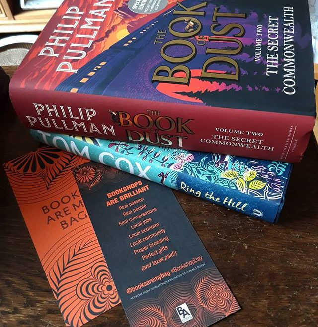 "Happy #BookshopDay everyone!  I did visit my local @colesbooksbicester but for once I didnt buy, mainly because @21stcenturyyokel's newly released #RingTheHill was ""bought"" a year ago when I funded it and @philippullmanofficial's #SecretCommonwealth was purchased my currently between locations fave,  @booksandink… #BookshopDay @booksaremybag #shoplocal #loveyourlocal #indiebooksellers"