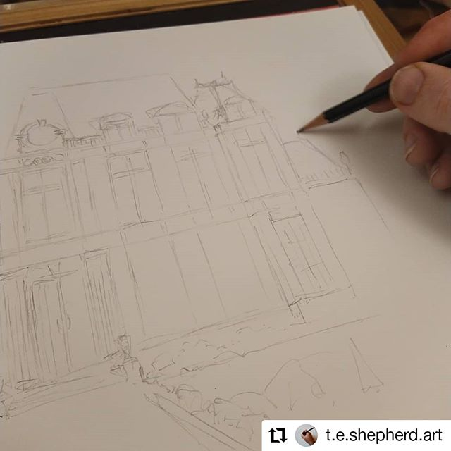 #Repost @t.e.shepherd.art • • • • • • Bicester Zoo  Very exciting to be working on my latest commission. @debbieyoungauthor has previously asked me to illustrate the bookshop from her #SophieSayersMysteries books, and now I she has engaged me to draw the school from her new #SecretsOfStBrides series… #illustration #amillustrating