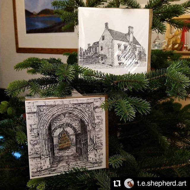 #Repost @t.e.shepherd.art • • • • • • Cogges  Looking forward to taking these and my other artwork and books to @cogges Christmas Market this weekend. Saturday and Sunday, 10am to 4pm. It would be great to see you there. #illustration #ChristmasMarkets #christmas🎄
