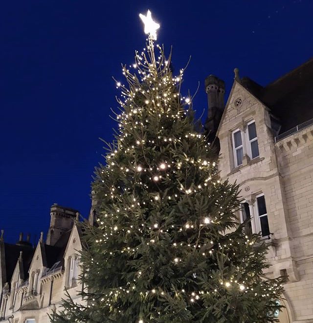 Christmas trees of Oxford… #christmas🎄 #trees #balliolcollege #broadstreet