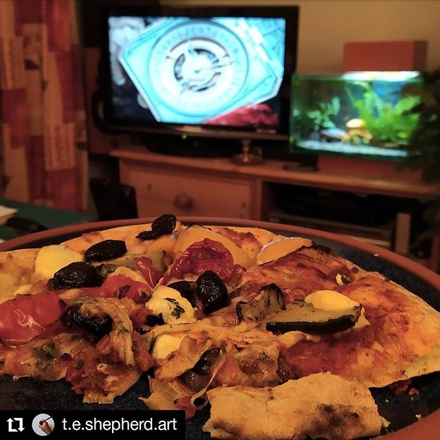 #Repost @t.e.shepherd.art • • • • • • Bicester Zoo  Pizza and #HisDarkMaterials to round off an enjoyable and exhausting weekend. Extra special thanks to @vnemma for sticking with me in all weathers and the cold to help me in my first market at @cogges in spite of her M.E.  Thank you too for @beth_johnson_jewellery, Sue the silversmith from @the_woodland_witch, @chickenrunstudio and the other sellers from our corner of the farmyard and various gazebo-wrestling.