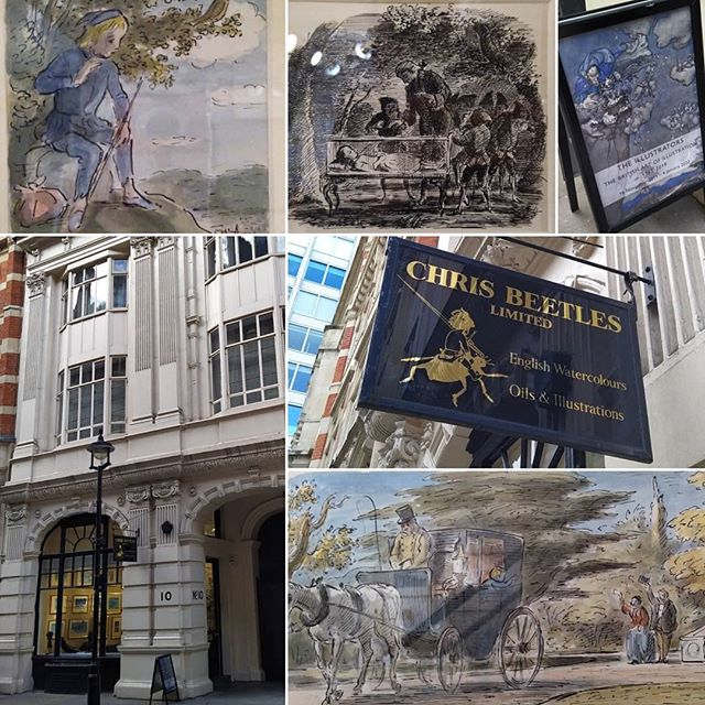 Took myself off to London today to satisfy my love of #EdwardArdizzone to see this year's #TheIllustrators exhibition before it closed. Had a good chat with Chris Beetle too – thanks for the cup of tea too!  #illustration #BookIllustration #London #StJames #Picadilly @chrisbeetlesgallery
