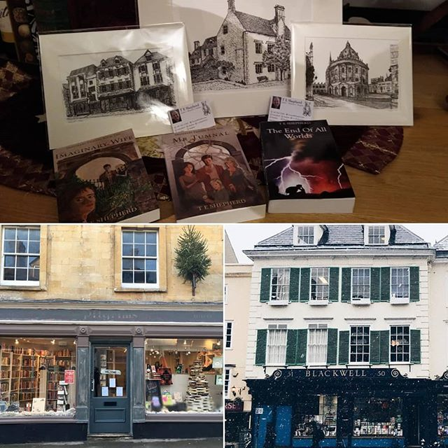 For old and new friends and followers alike, a reminder that my cards and prints can currently be found stocked in @blackwelloxford and my books in the wonderful @booksandink in Winchcombe.  Drop in if you're near then and show our high street some love in 2020. • • •  If you can't get to them, contact me online for my art, or ask in your own local #indiebookseller about my books. #shoplocal #loveyourlocal