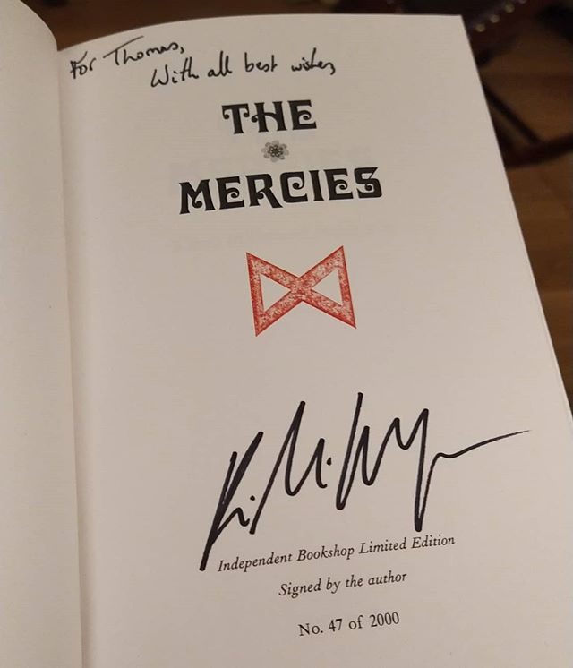 Got to finally meet @kiran_mh and listen to her talk about and hear read from her new novel, The Mercies #books #limitededition #home #TheMercies
