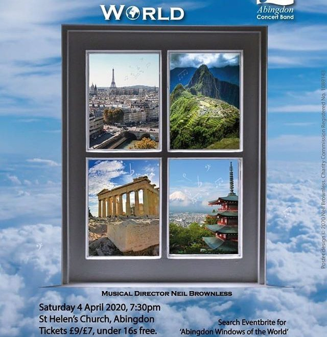 #Repost @abingdonconcertband • • • • • • St Helen's Church, Abingdon  Can't travel because of #Covid19? Come and journey round the world with us on the 4th April in our next concert – Windows of the world. We'll be whisking you away to all four corners of the globe and you won't need to worry about your carbon footprint. Tickets available now! https://www.eventbrite.co.uk/e/windows-of-the-world-tickets-96757750035 . . . #abingdon #makingmusic #oxfordshire #familyfriendly #concerts
