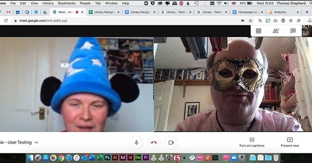 On Wednesdays we do user testing in silly headgear… #UXDesign #UserTesting #WorkingFromHome