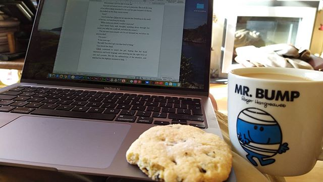 That third part of the trilogy.  It won't write itself you know… #TheNovel #MrTumnal3 #ForgottenFriends #amwriting #tea #EasterBiscuit #TeaAndInspiration