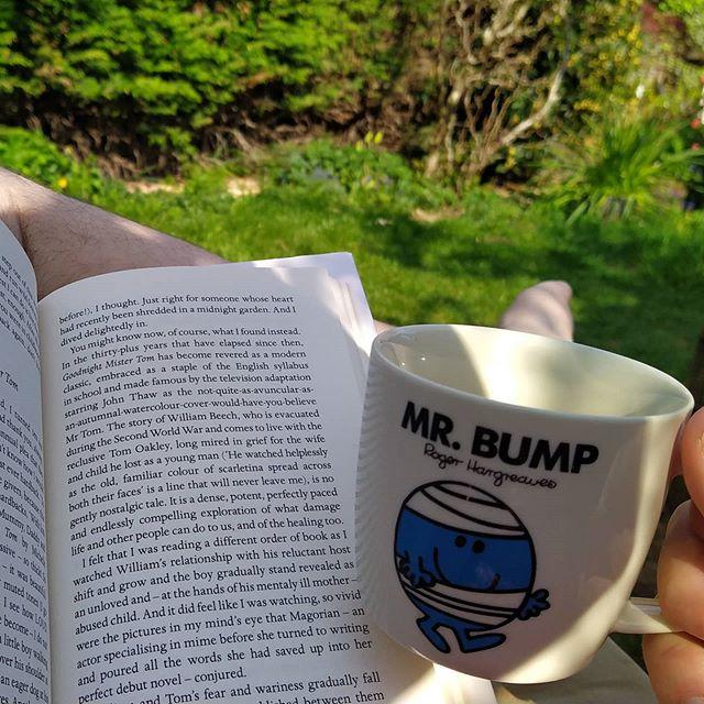 Tea.  Book. Garden. . #LifeIsGood
