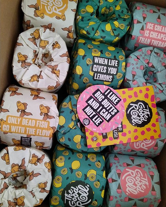 So @whogivesacraptp were sold out so I had to turn to @thegoodroll instead for all my toilet needs. To quote their despatch email, #HappyShitting...