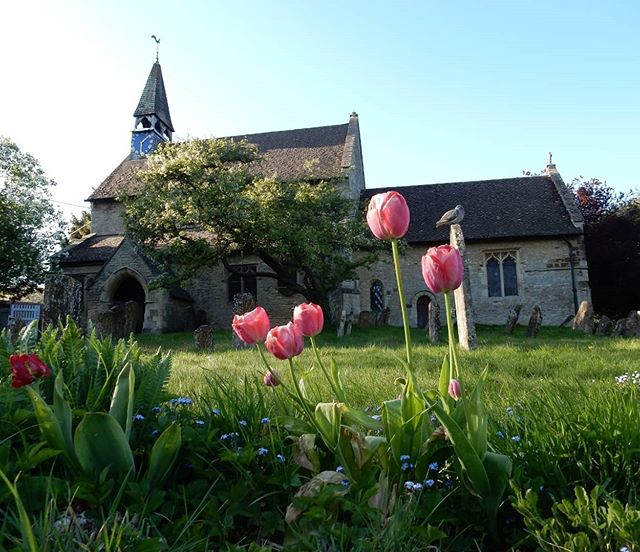 Adorable little church of St Edmund and St George, Hethe... #churches #churchesofinstagram