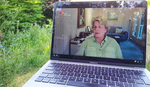 Enjoying the finale to the @hayfestival with Sandi Toksvig whilst sat in my garden… #HayDigital #ImagineTheWorld